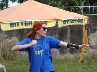 戴安娜气球射击保护准备手臂
