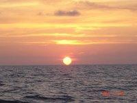 船上的日落