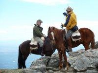 en la ruta con los caballos