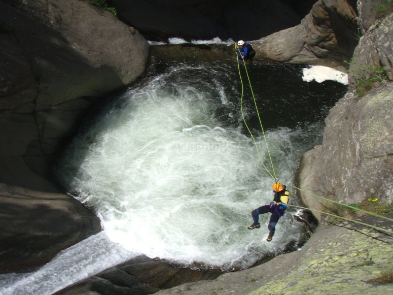 Abseiling with zip lne