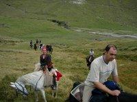 A caballo en grupo
