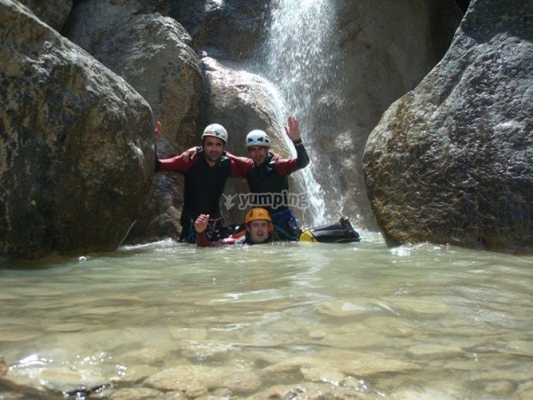 Happy adventurers