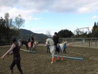 克服障碍物在马匹上