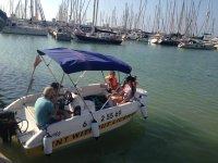 Saliendo en familia en el barco