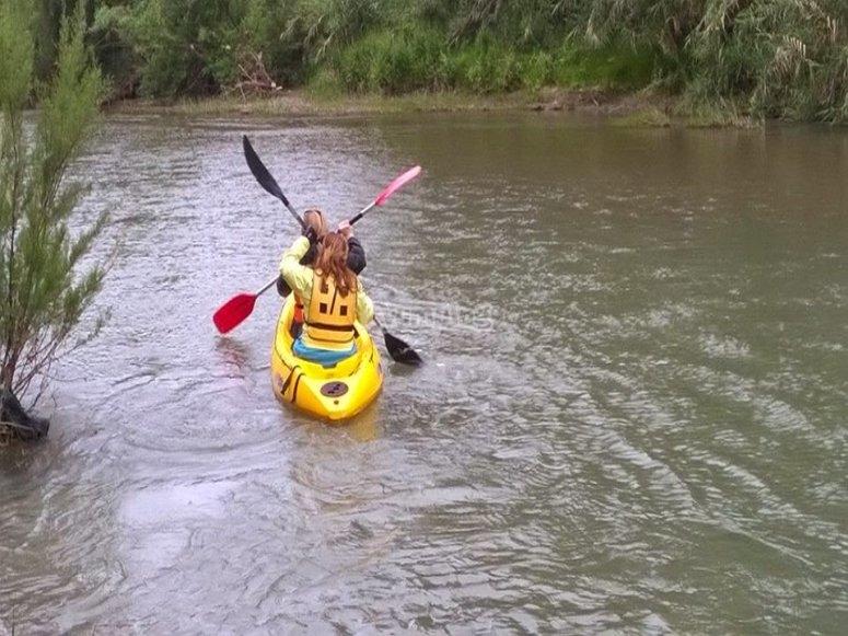 No importa la epoca para disfrutar del kayak