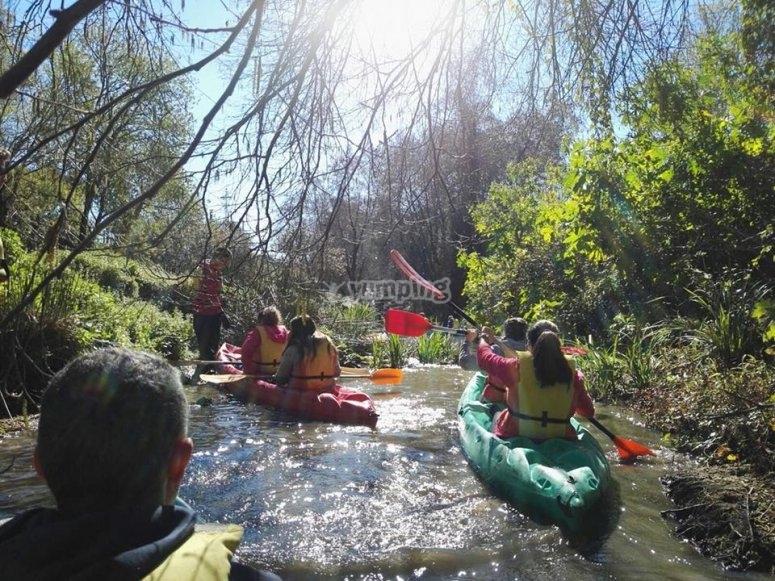 travesia en kayak por el Guadario
