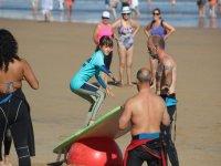 Practicando en la playa