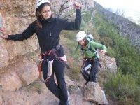 Pasando por la ferrata en Huesca