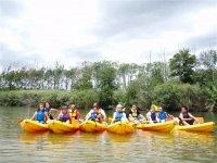 Family kayak excursion, Aiguamolls, 2h