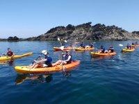 Expedición en kayak por la Costa Brava