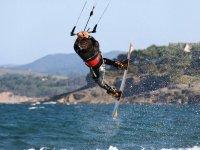 Aerobatics with kite board