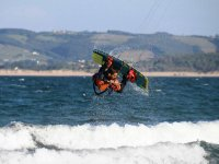 Face with kite board