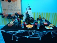At the Halloween party