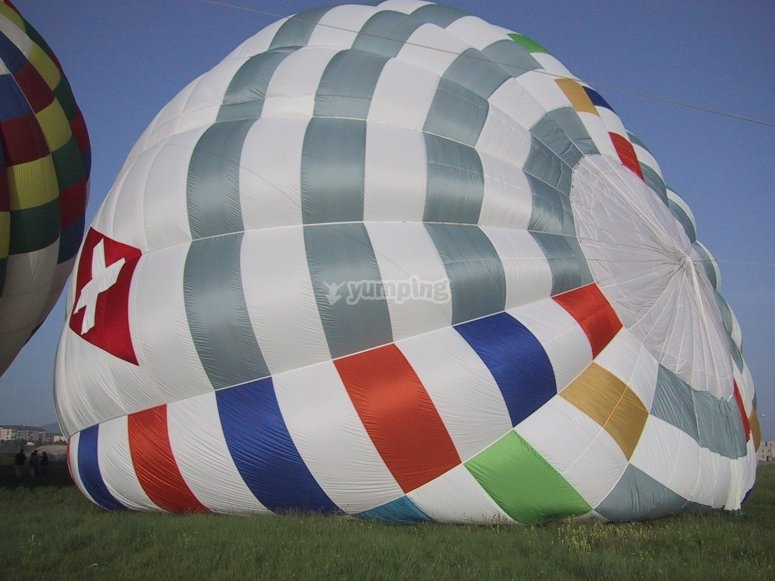 Inflating process of the balloon