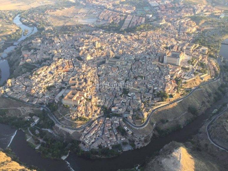 Vistas de Toledo desde el globo