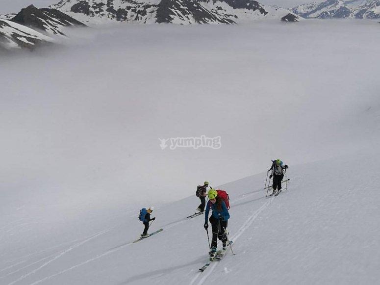 Practicando esqui