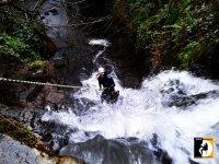 Rapel con cuerda cascada