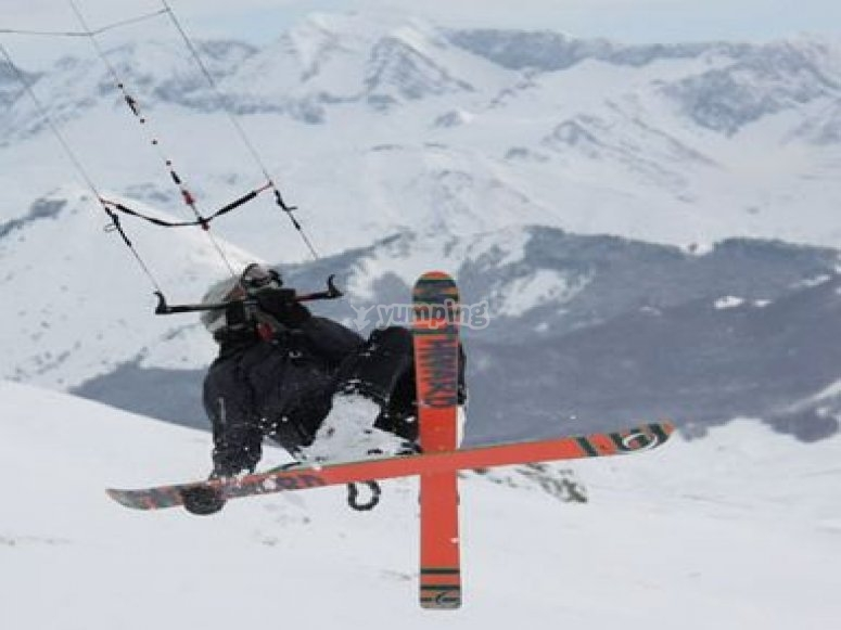 snowkite curso
