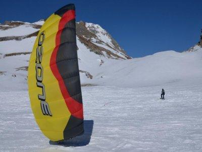 在Portalet的2天snowkite课程