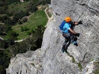 Profesionla escalador en Grazalema