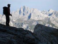 Montañistas amantes de las buenas vistas