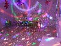Luces de disco encendidas