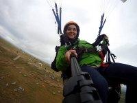 Taking photos while paragliding