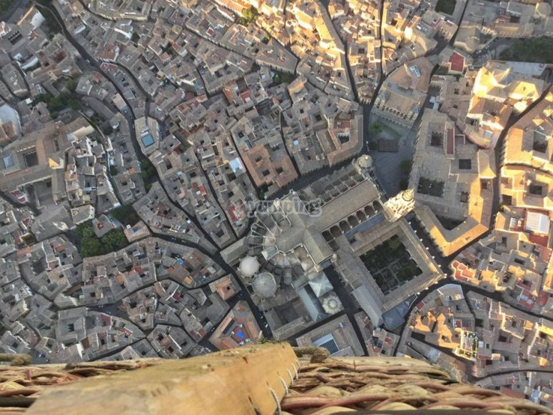 Toledo seen from the balloon