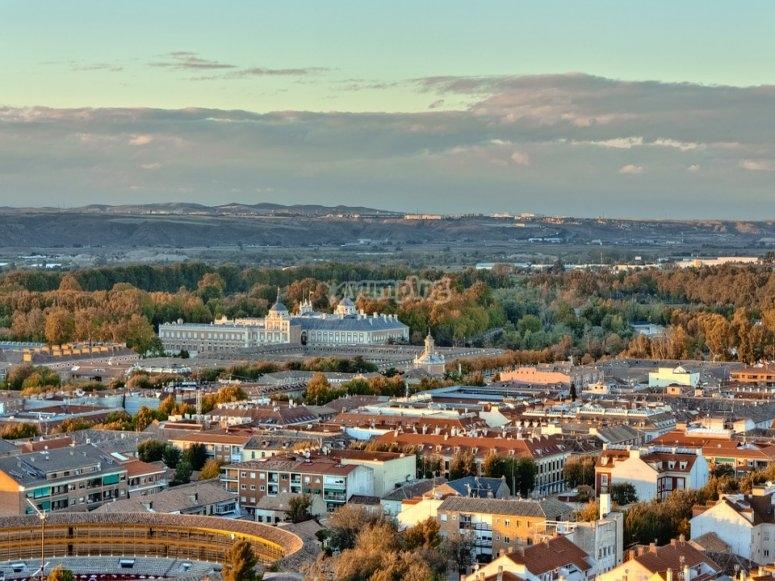 Aranjuez seen from above.