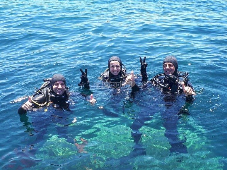 Tras inmersion de buceo Cabo de Palos