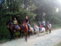 Excursion a caballo para varias edades