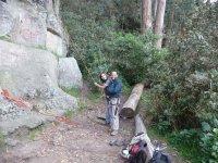 Preparing for climbing