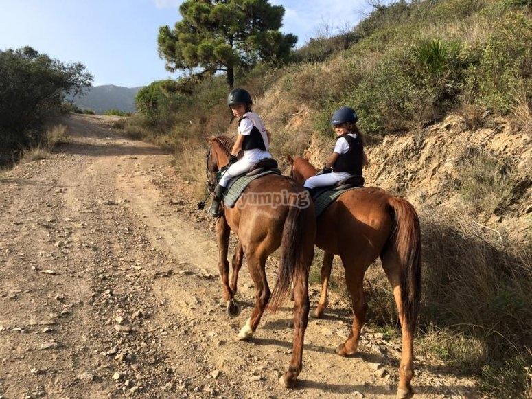 Horse trekking tour Marbella