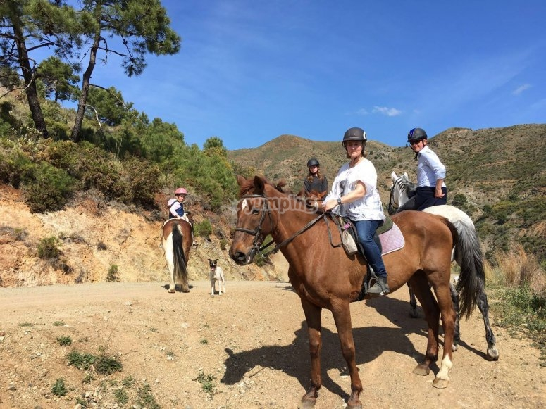 Ruta a caballo cerca de Marbella