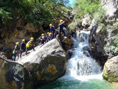 Canyoning in Arroyo frío