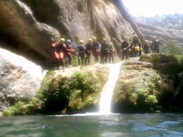 descenso en tobogan de barranco
