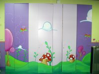 Closets with kids decoration