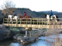 Cruza puentes, valles, arroyos...