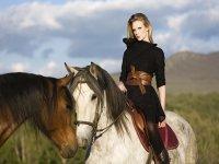 La princesa guerrera a caballo