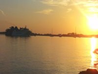在马略卡岛的日落。