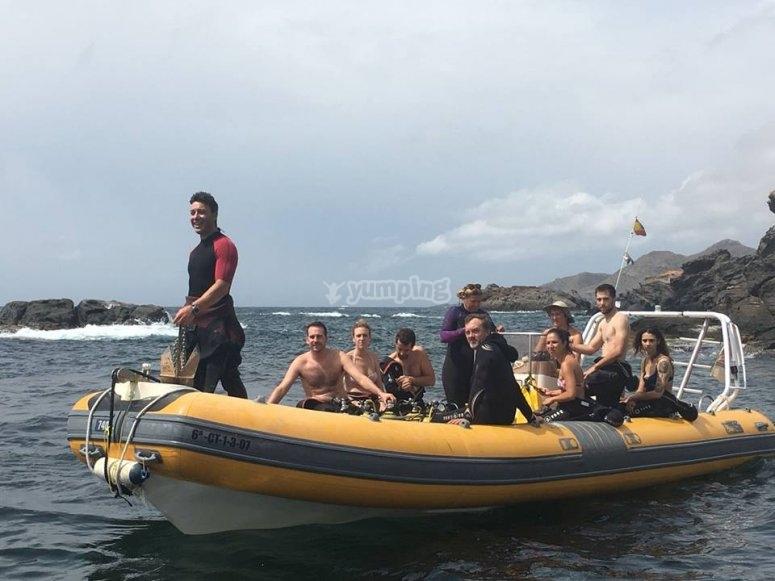 Diving baptism in Murcia