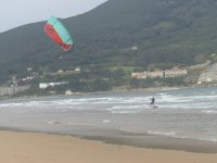 Kitesurfing with high wind