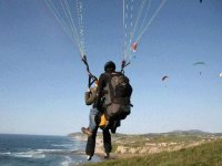 Flying on a two-seater paragliding