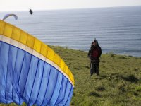 Our paragliding is taking off