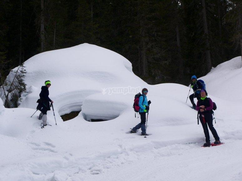Travesía raquetas de nieve hacia Peñalara