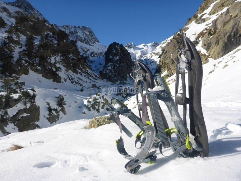 Tour en raquetas de nieve sierra de Guadarrama