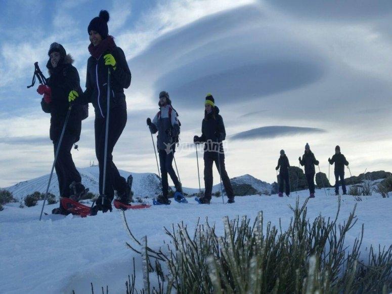 Camino a pico de Peñalara