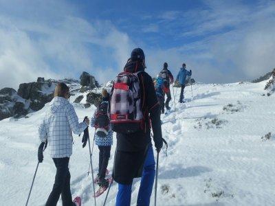 Ruta con raquetas de nieve Glaciar de Peñalara