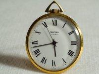 Golden analog clock