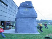 Using the climbing wall